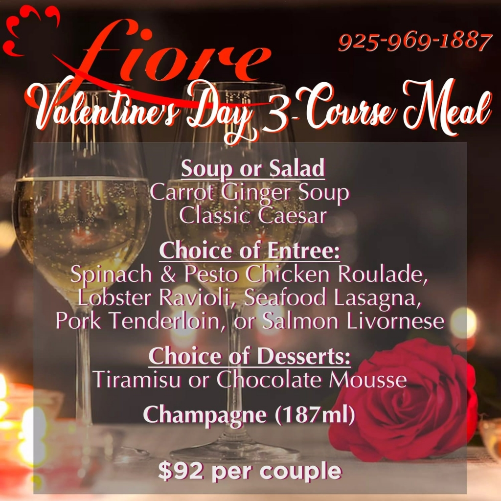Valentine's Day | Fiore Restaurant in Concord